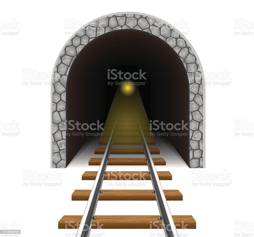 railway tunnel vector illustration vector art illustration