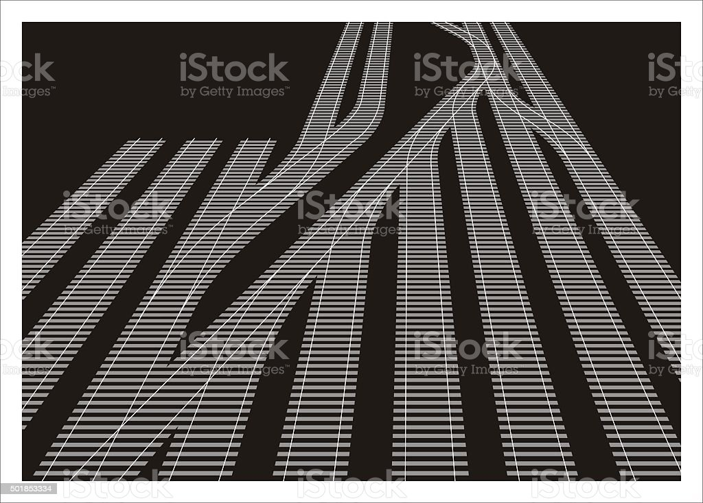railyard simple illustration vector art illustration