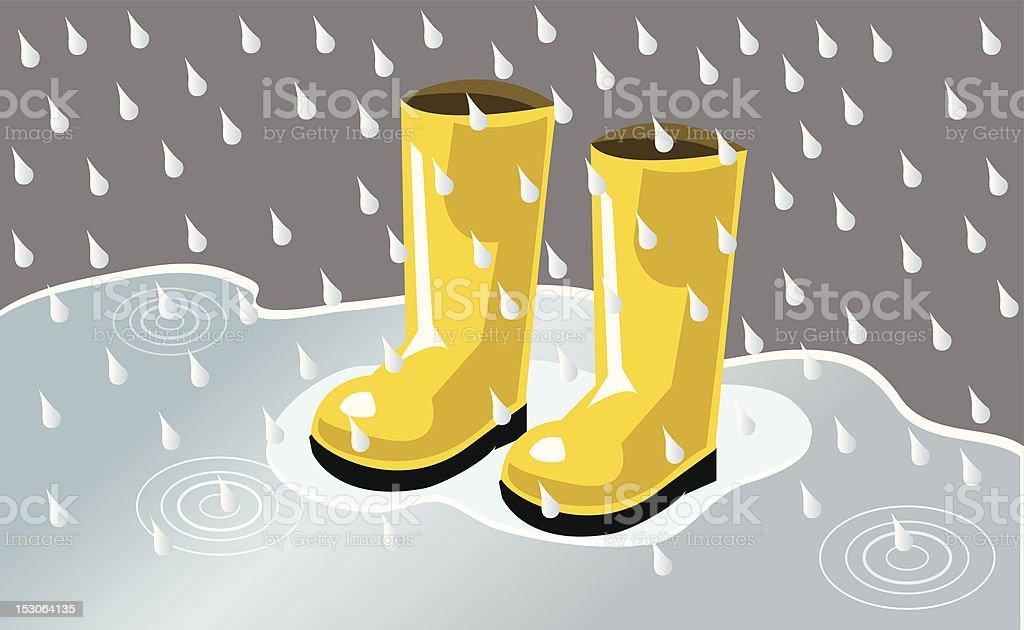 Rain boot royalty-free stock vector art