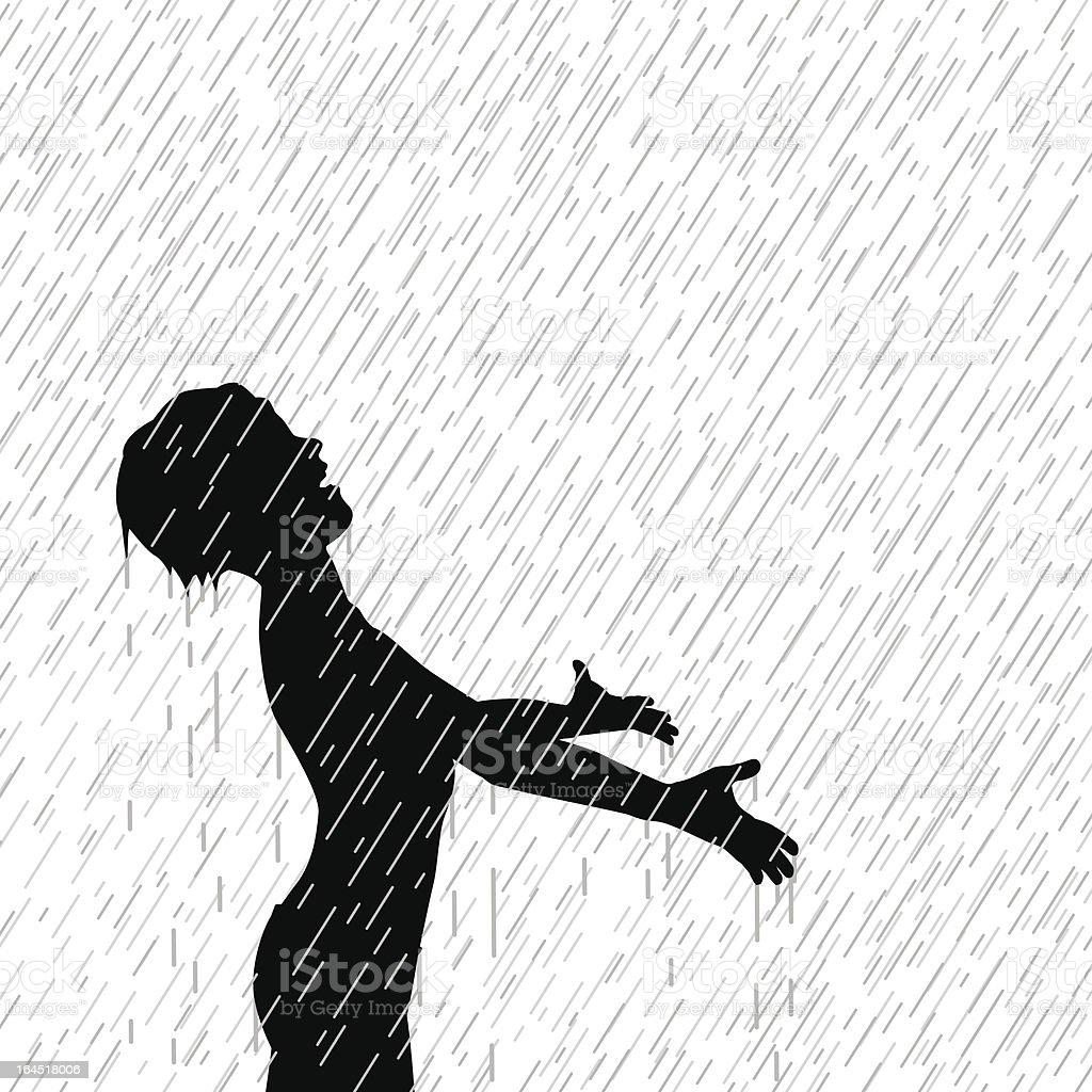 Rain boy royalty-free stock vector art