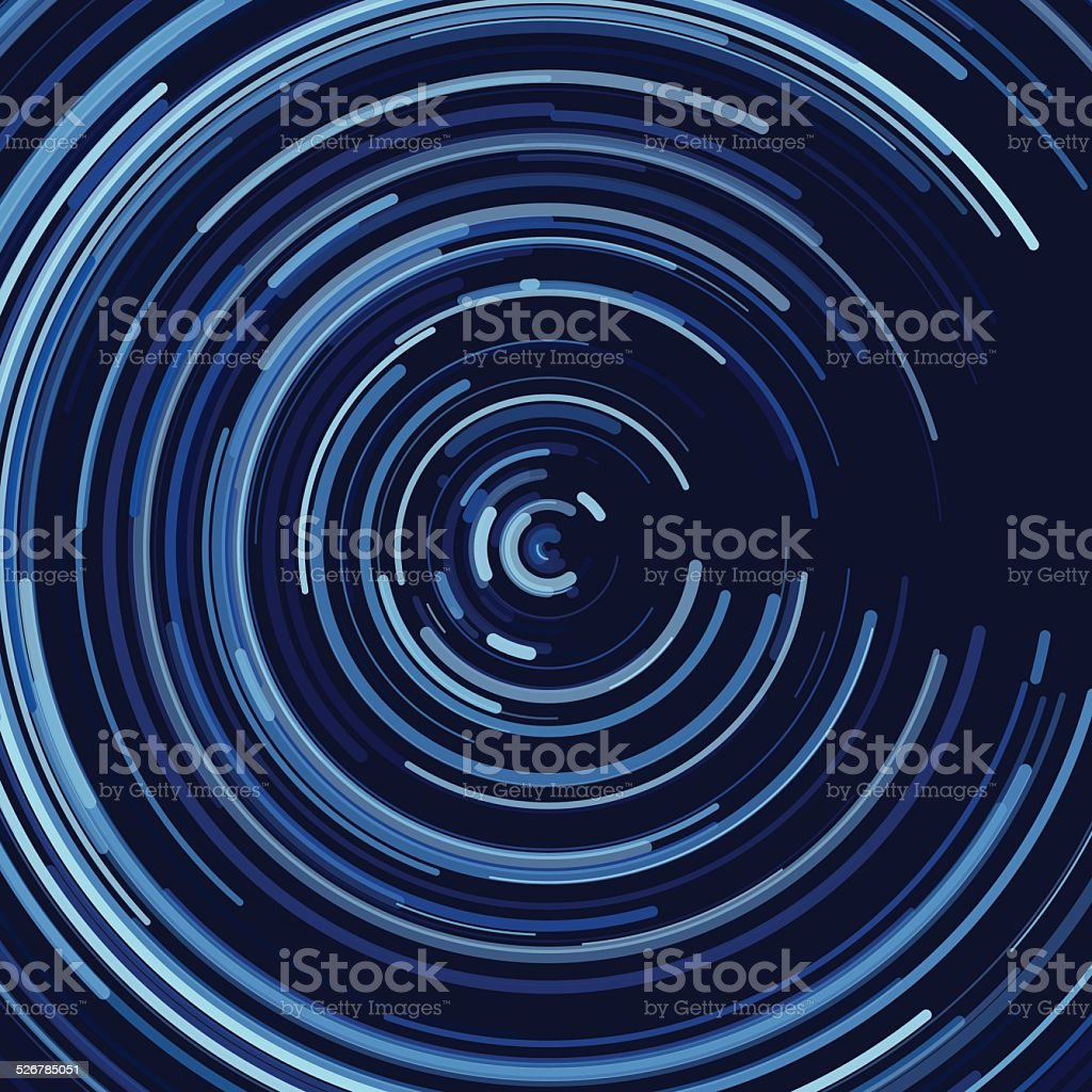 Rain Concentric Circle Pattern vector art illustration