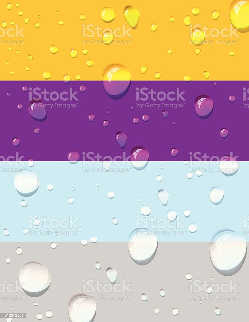 Rain drops background - Illustration vector art illustration