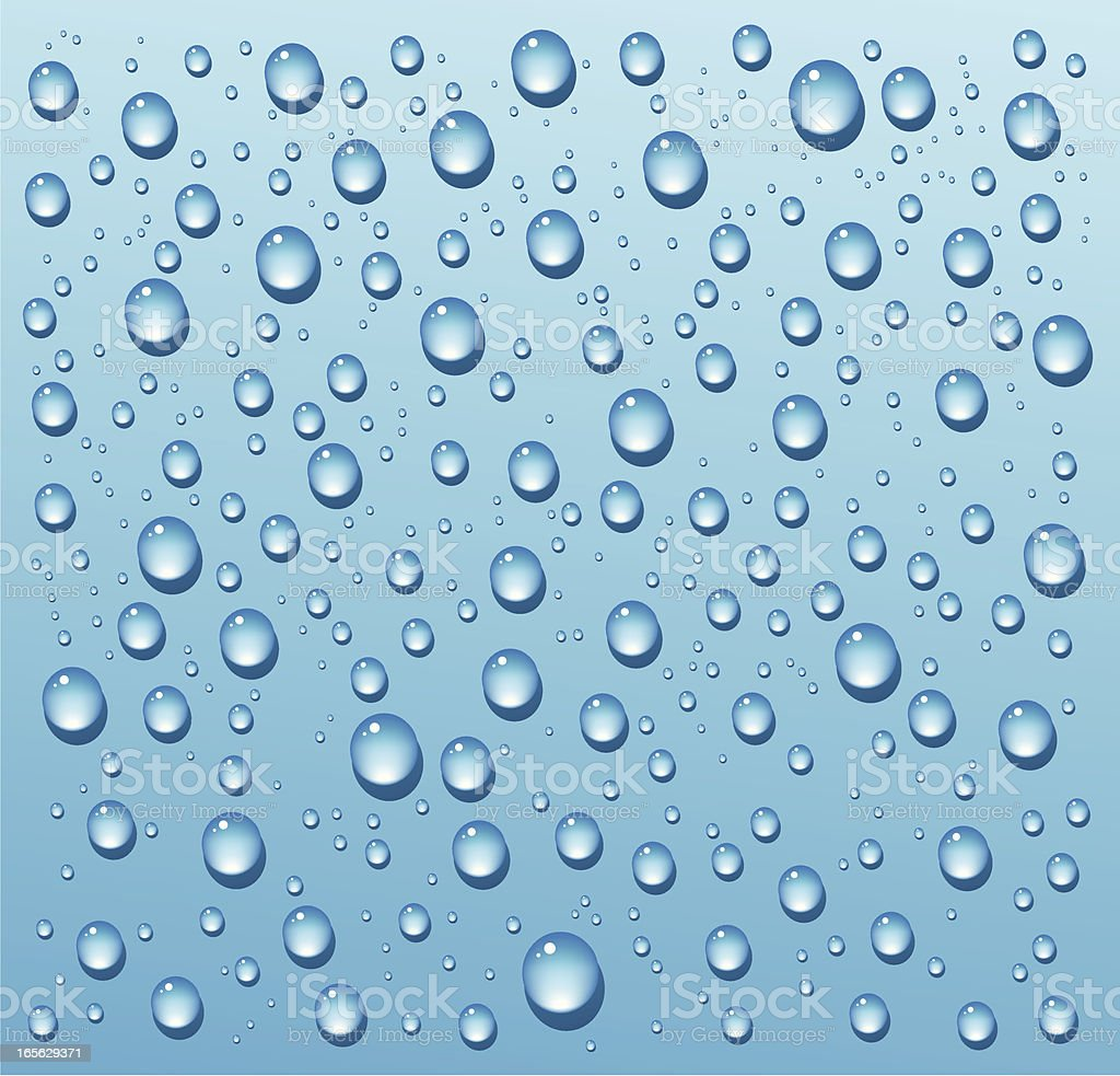 Rain Drops Texture royalty-free stock vector art