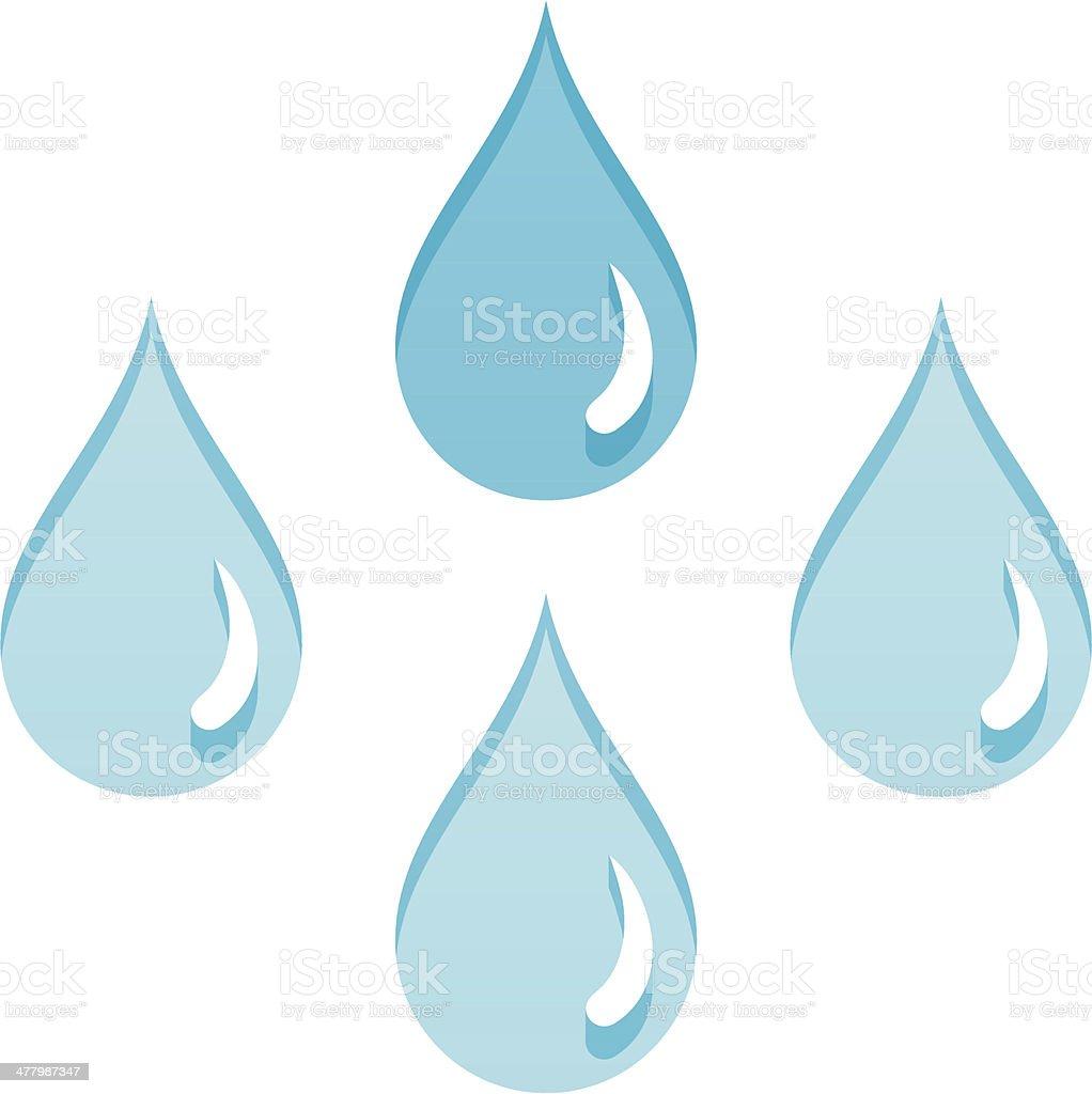 Rain drops vector art illustration