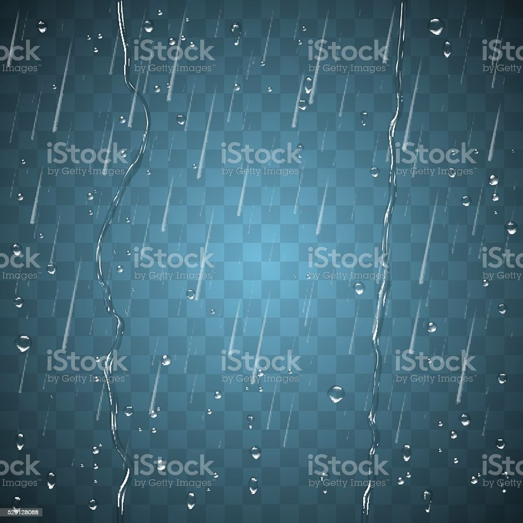 Rain effect background vector art illustration