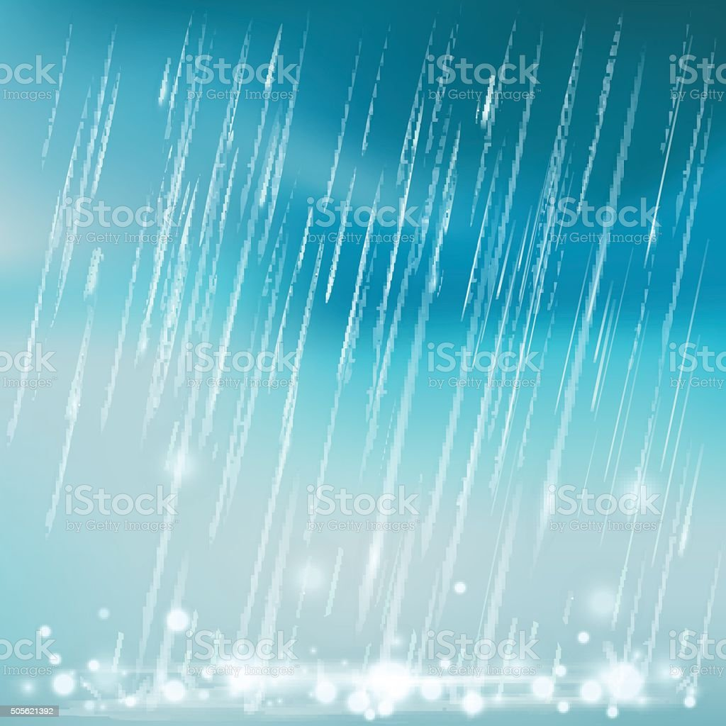 Rain illustration vector art illustration