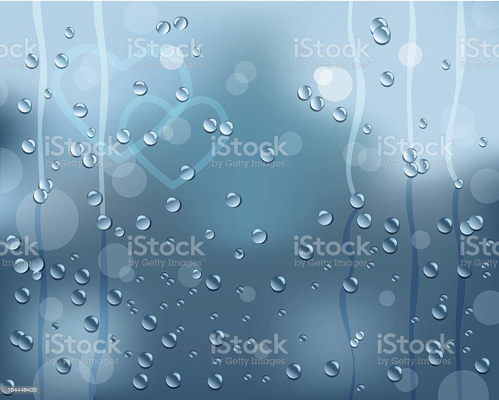 Rain on window royalty-free stock vector art