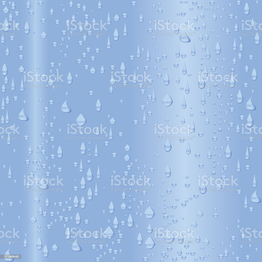 Rain or water on glass - Seamless Pattern royalty-free stock vector art