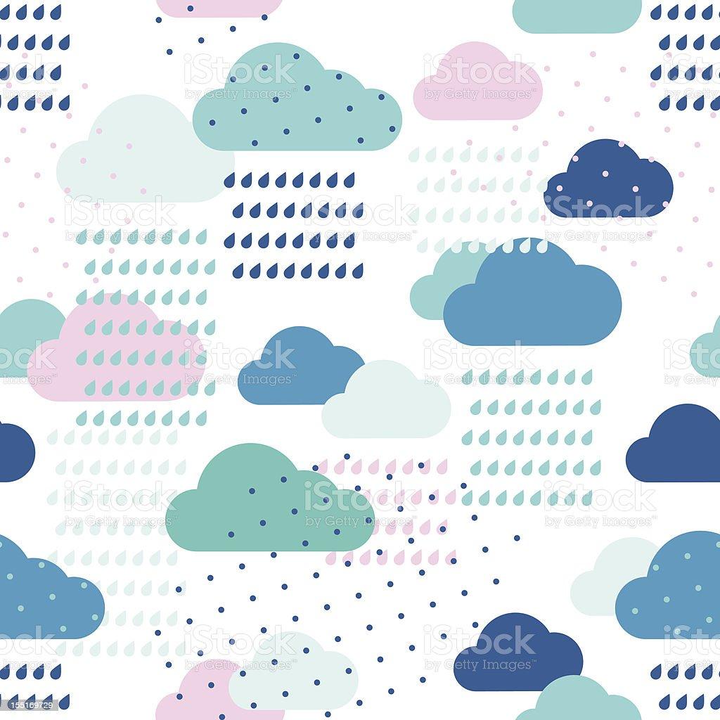 Rain pattern royalty-free stock vector art