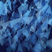Rain Triangle Geometric Vector Pattern