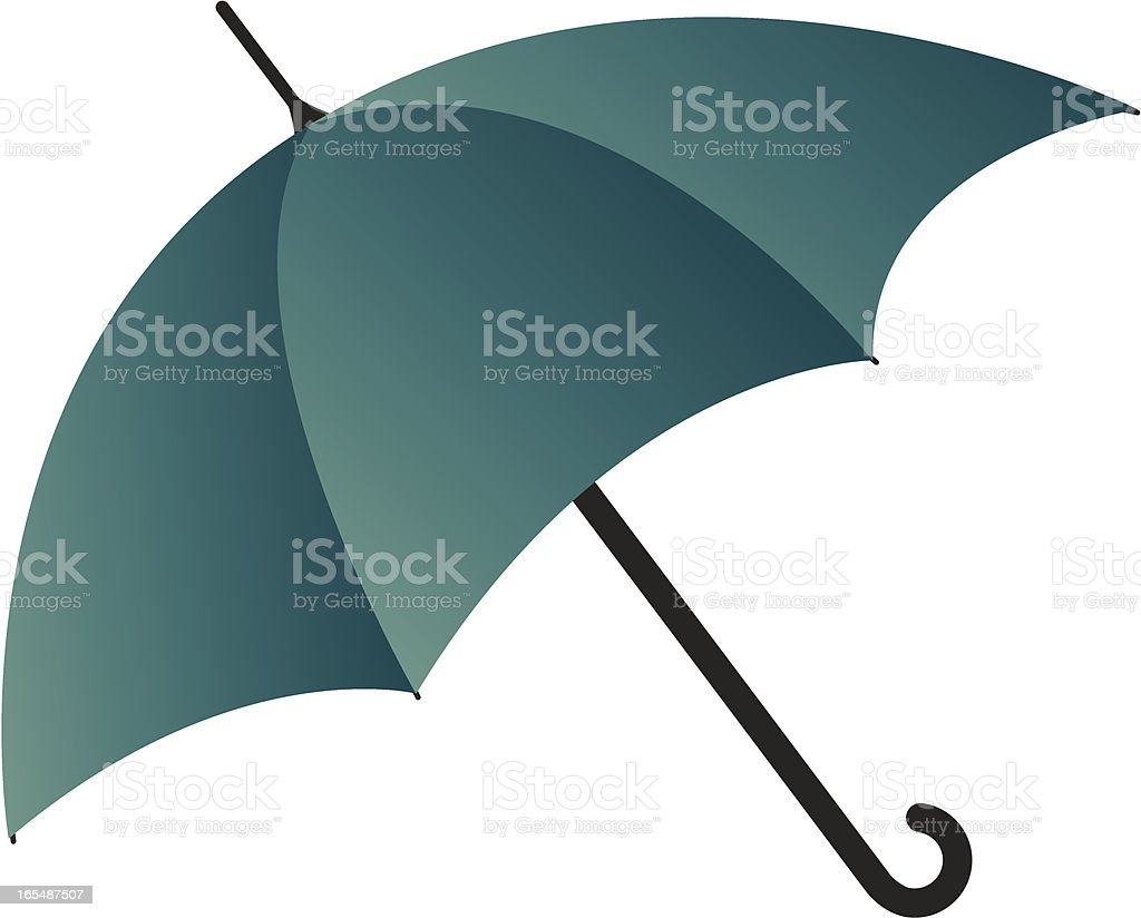 Rain Umbrella vector art illustration