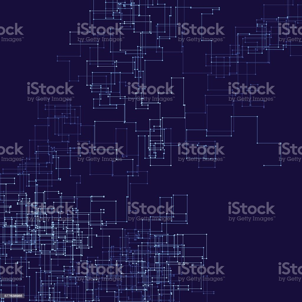 Rain Vector Connection Line Pattern vector art illustration