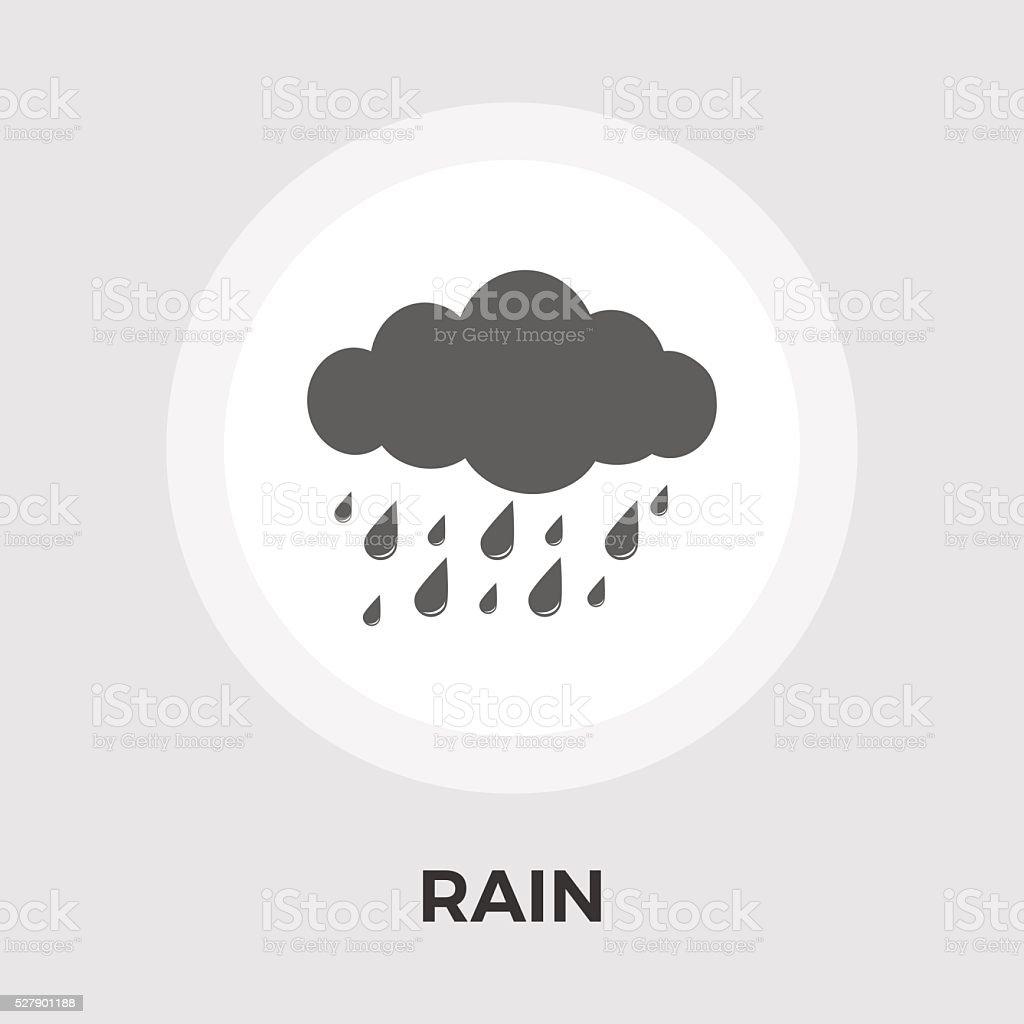 Rain vector flat icon vector art illustration
