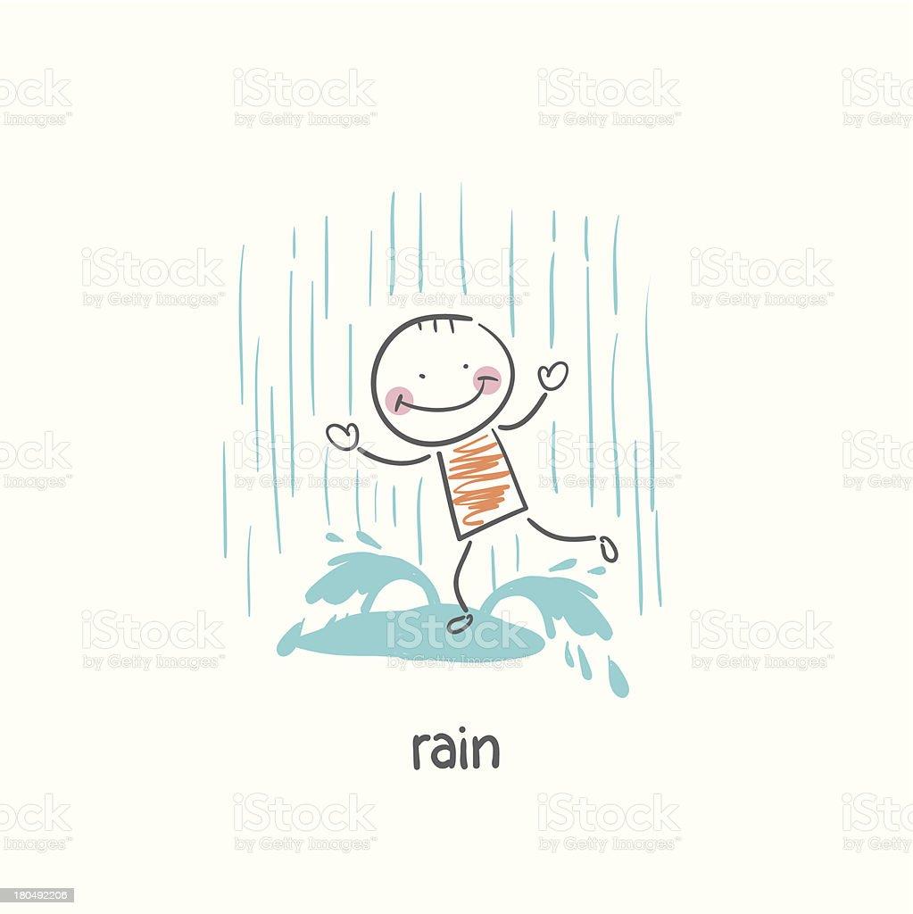 Rain royalty-free stock vector art