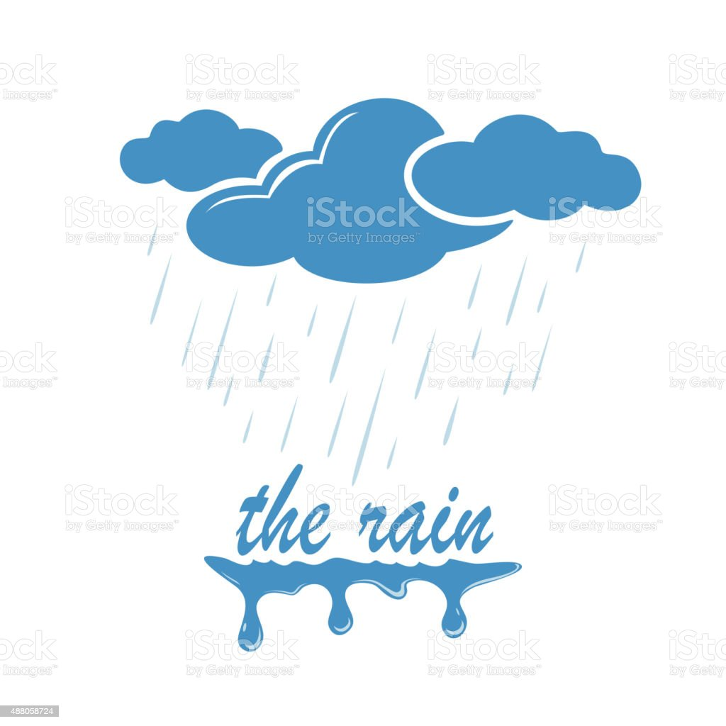Rain vector art illustration