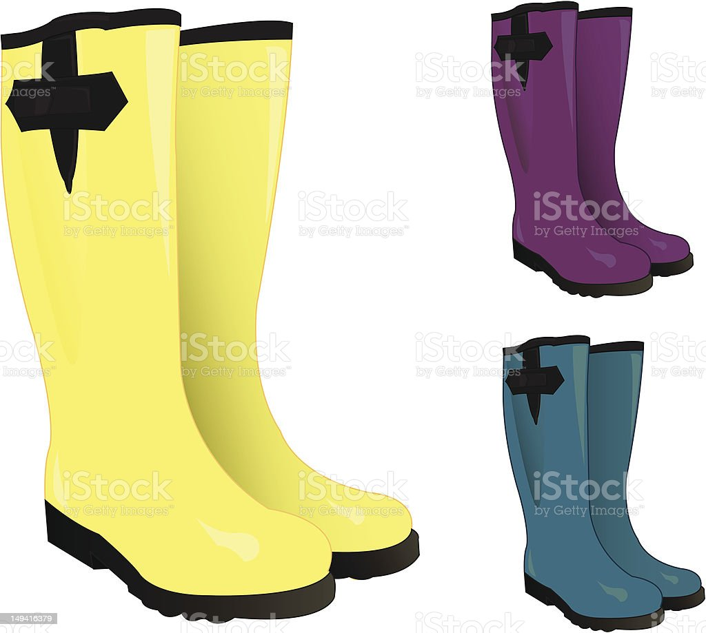 Red Rain Boots Clipart rubber boots clipart -...