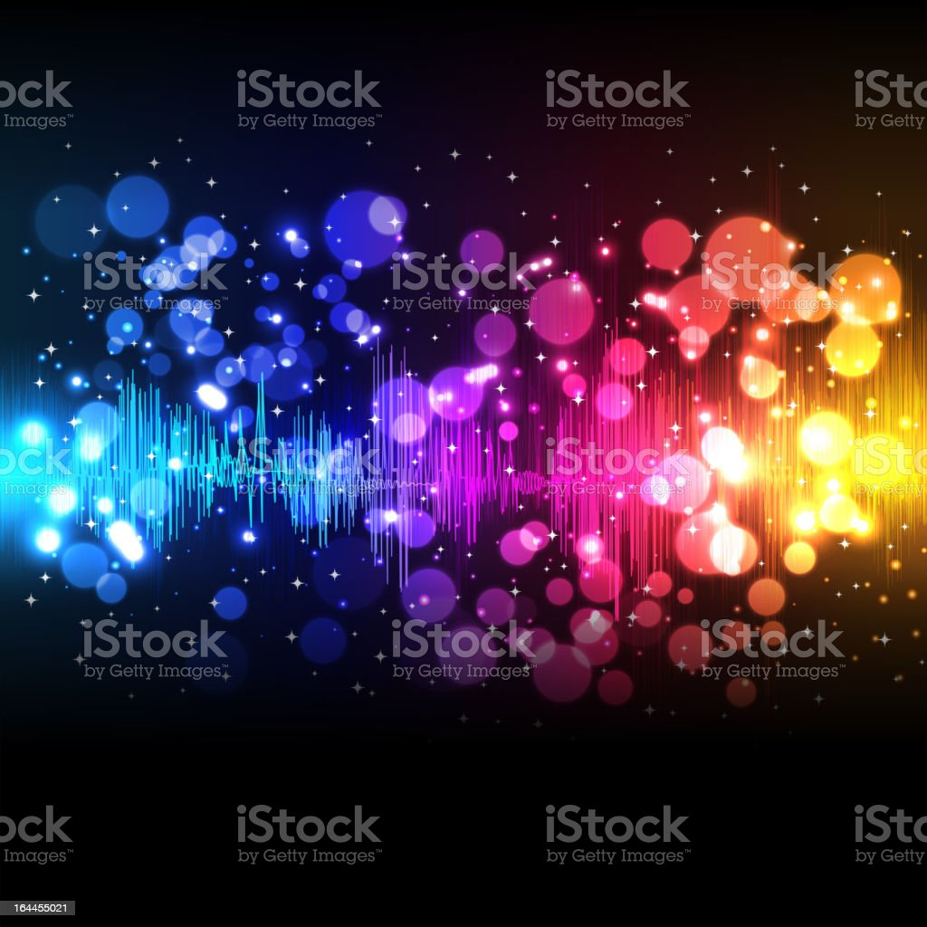 A rainbow abstract meant to be a background for a screen vector art illustration
