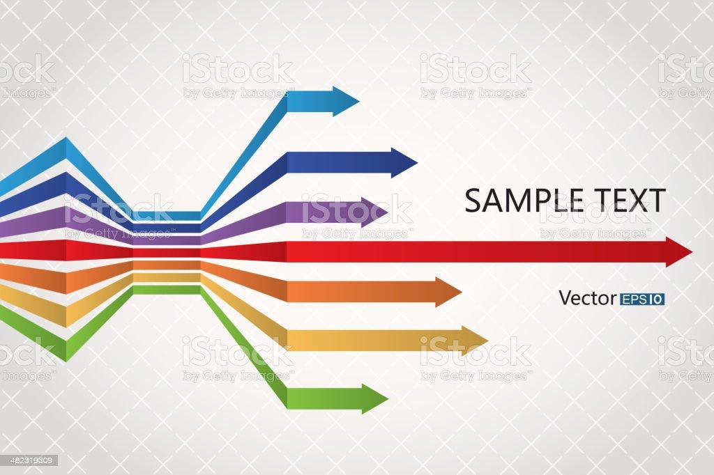 Rainbow arrows royalty-free stock vector art