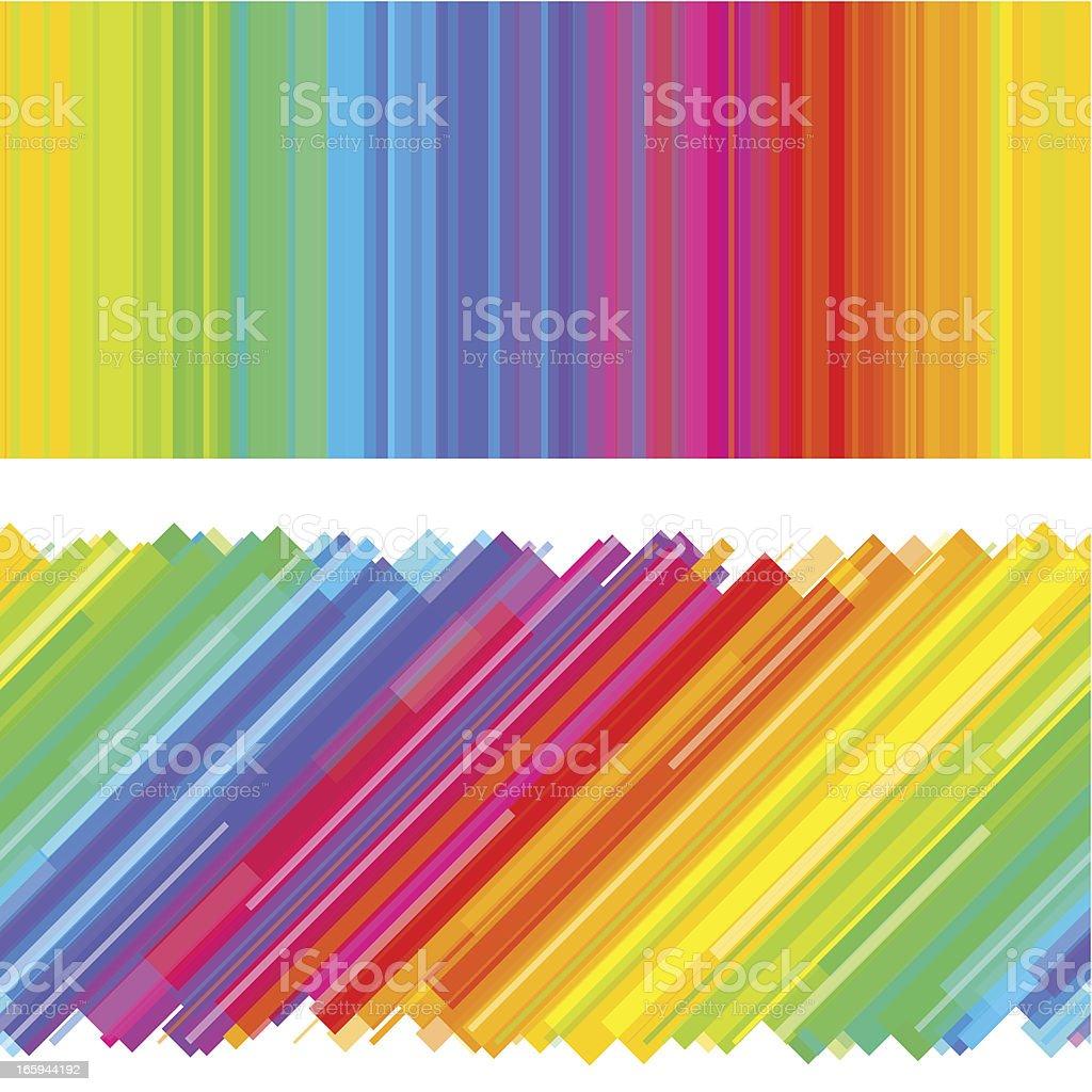 Rainbow background design vector art illustration