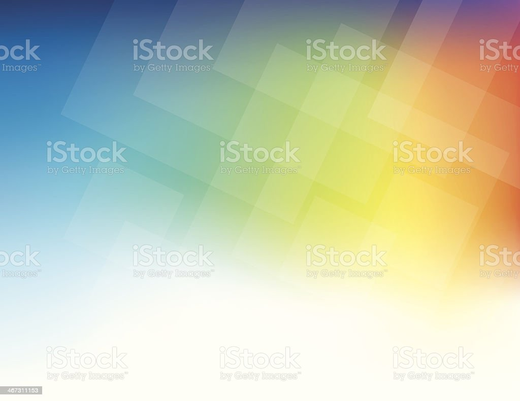 A rainbow background with geometric design royalty-free stock vector art