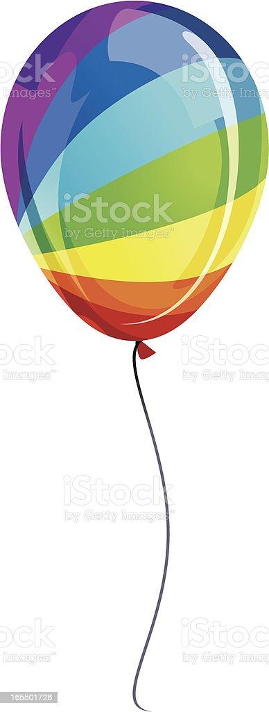 Rainbow Luftballons Vektor Illustration 165501726 | iStock