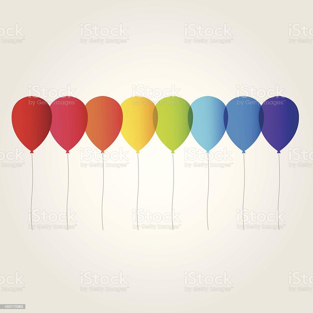 rainbow balloon vector art illustration