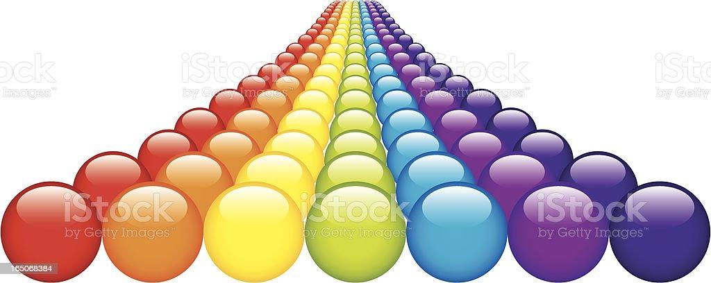 Rainbow Balls royalty-free stock vector art