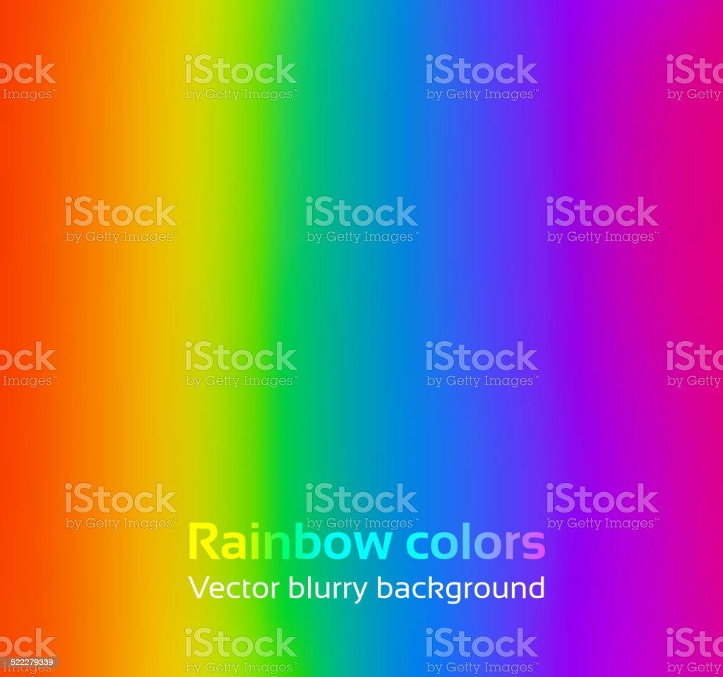 Rainbow blurred background. vector art illustration