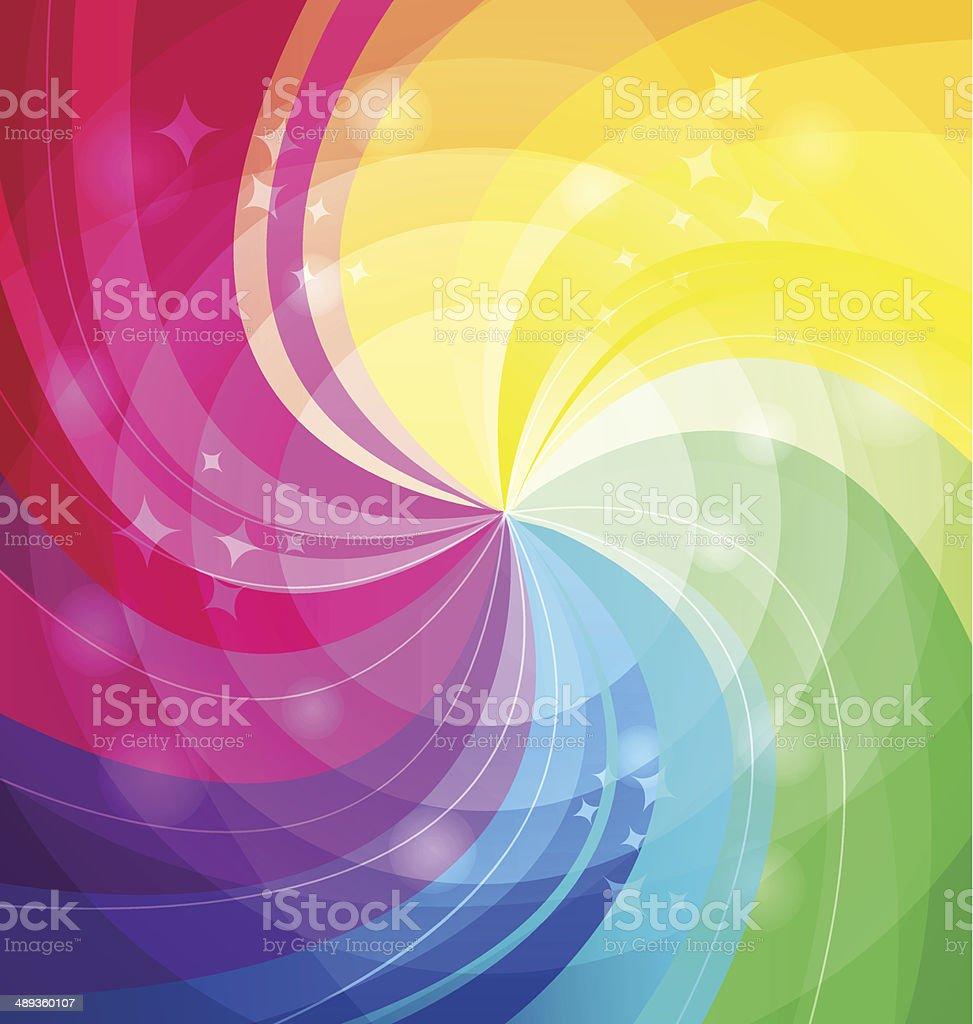 Rainbow яркий фон с лучами векторная иллюстрация