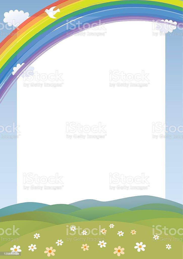 Rainbow card vector art illustration
