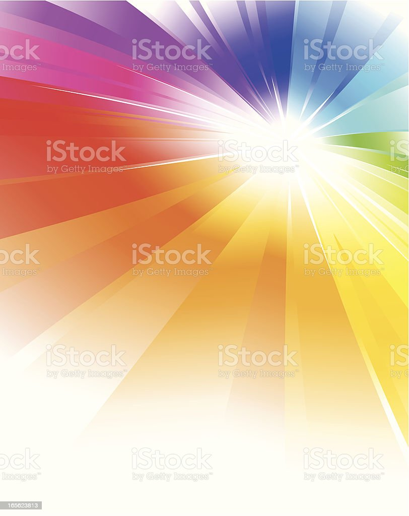 Rainbow Color Radial Background vector art illustration