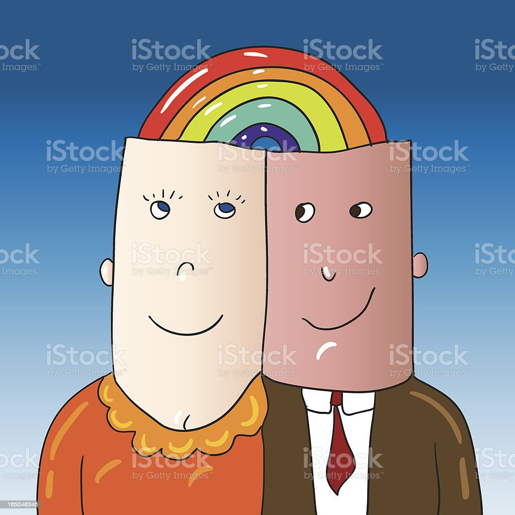 rainbow connection royalty-free stock vector art