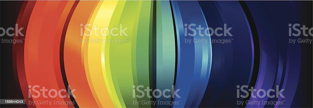 Rainbow Crystal Arc Lines royalty-free stock vector art