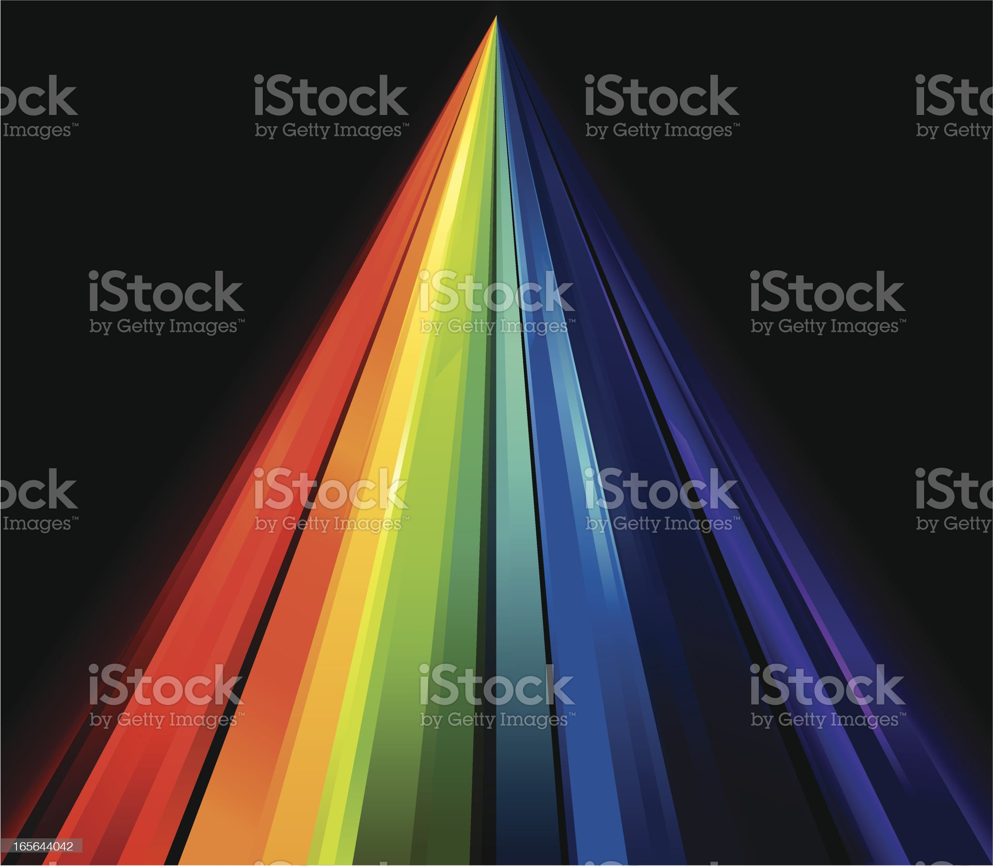 Rainbow Crystal Perspective Lines royalty-free stock vector art