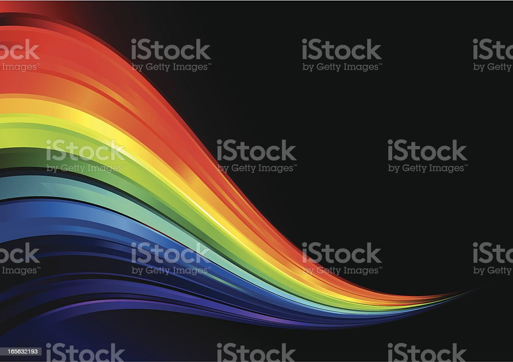 Rainbow Crystal Wave Lines royalty-free stock vector art