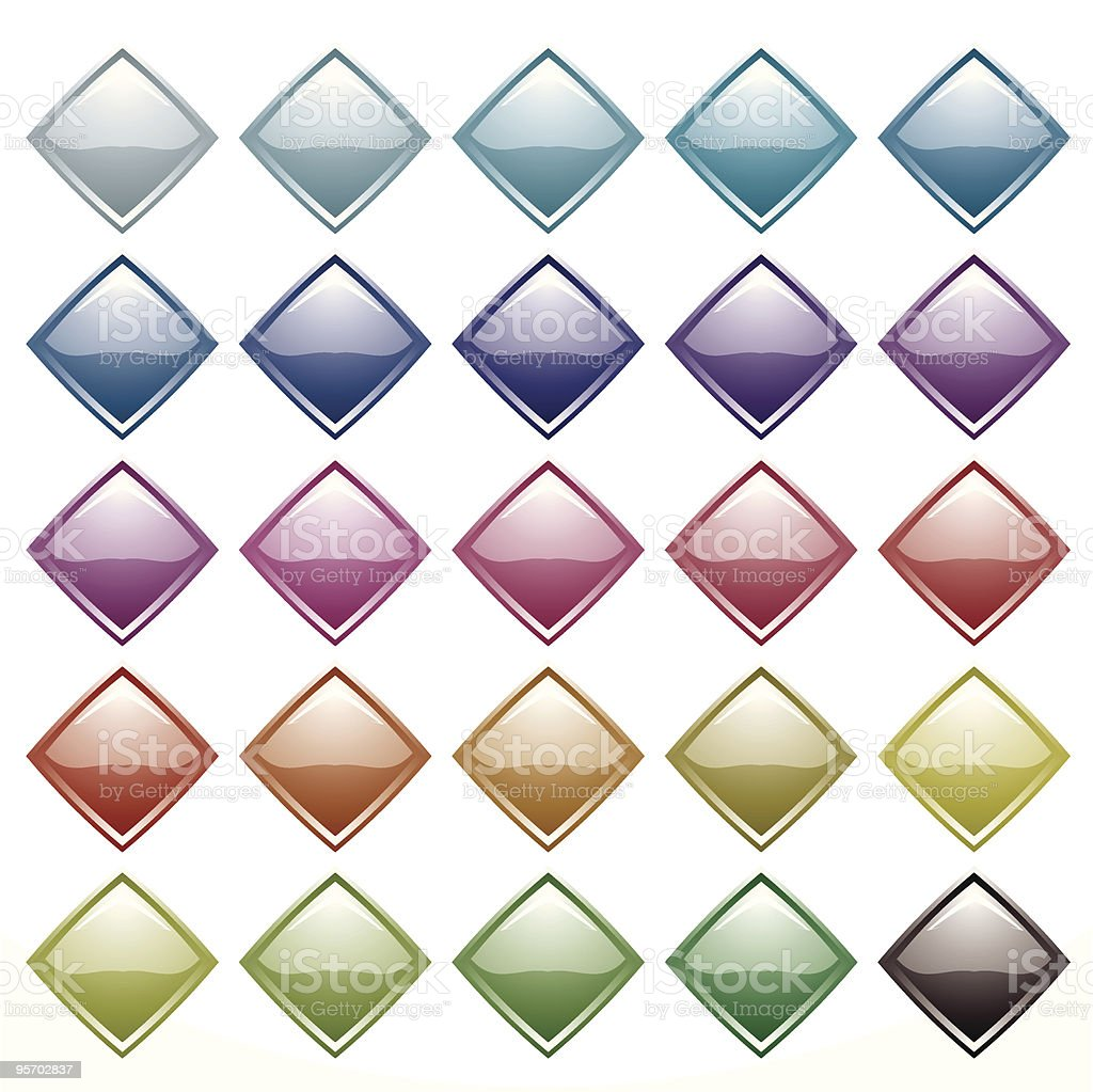 rainbow diamond variation vector art illustration