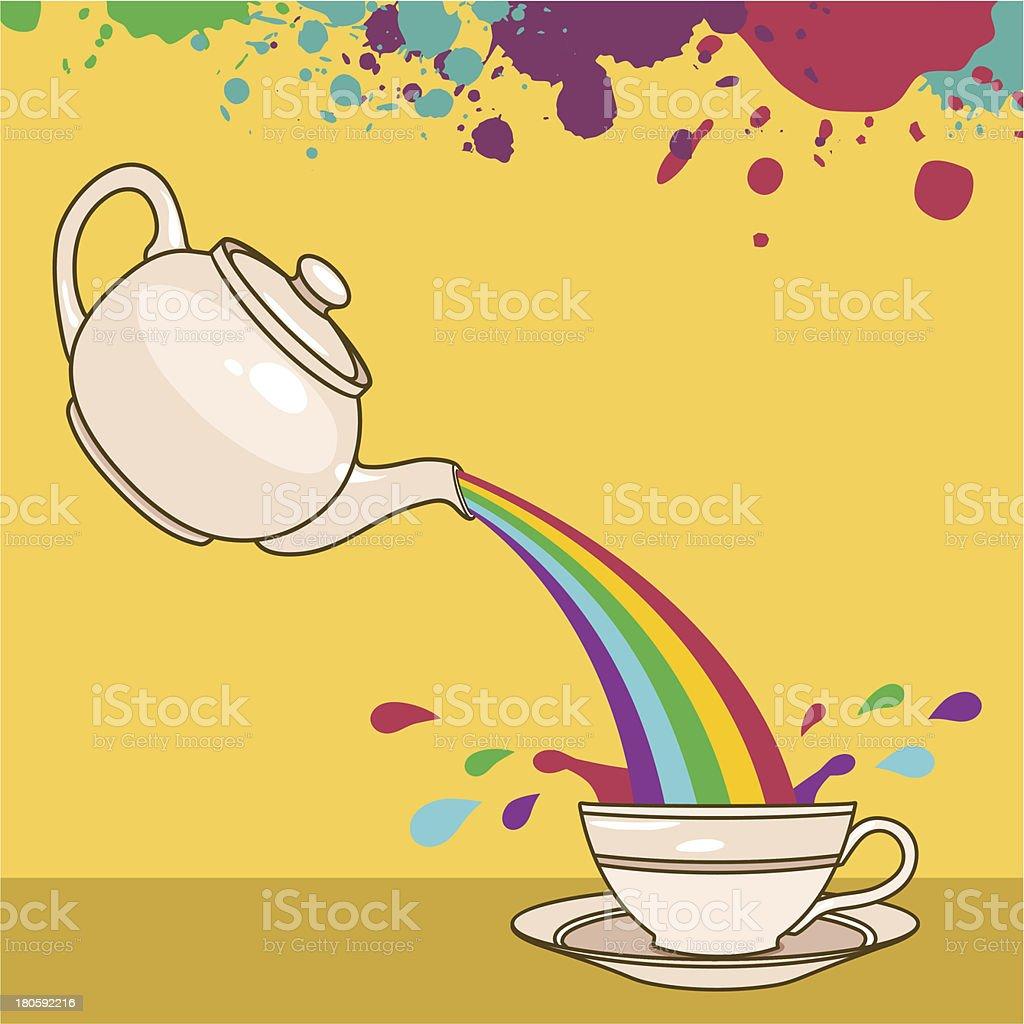 rainbow drops royalty-free stock vector art