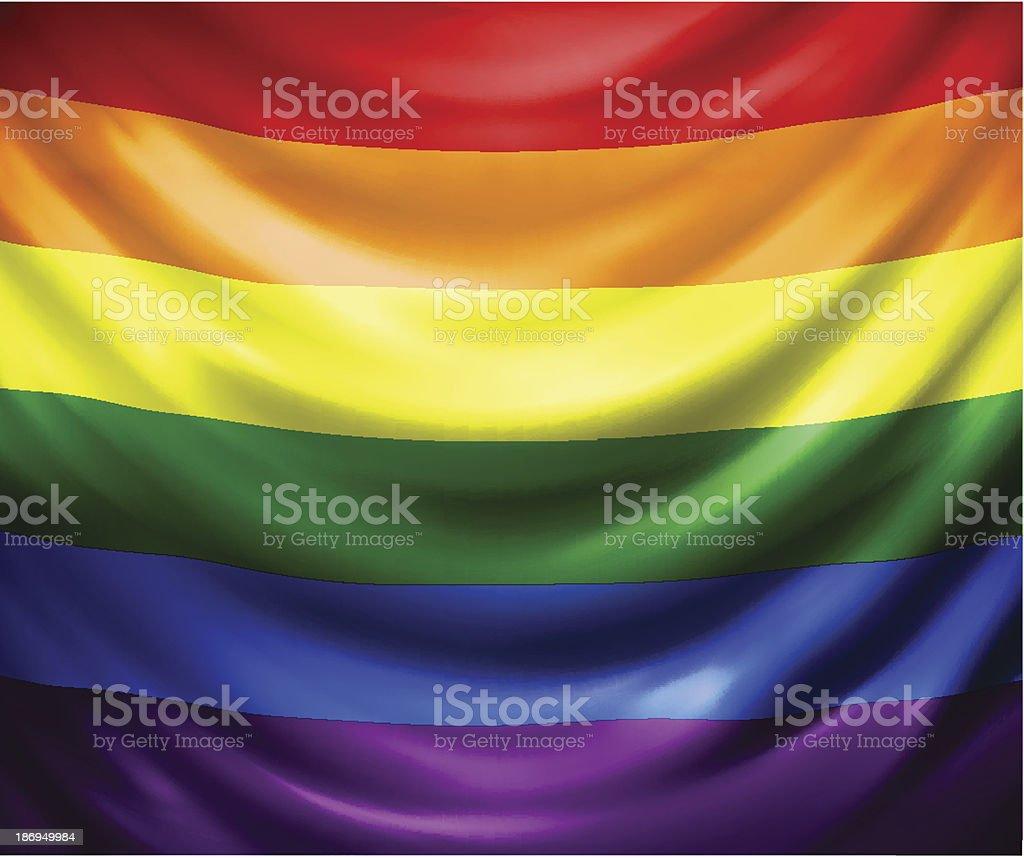 Rainbow flag royalty-free stock vector art