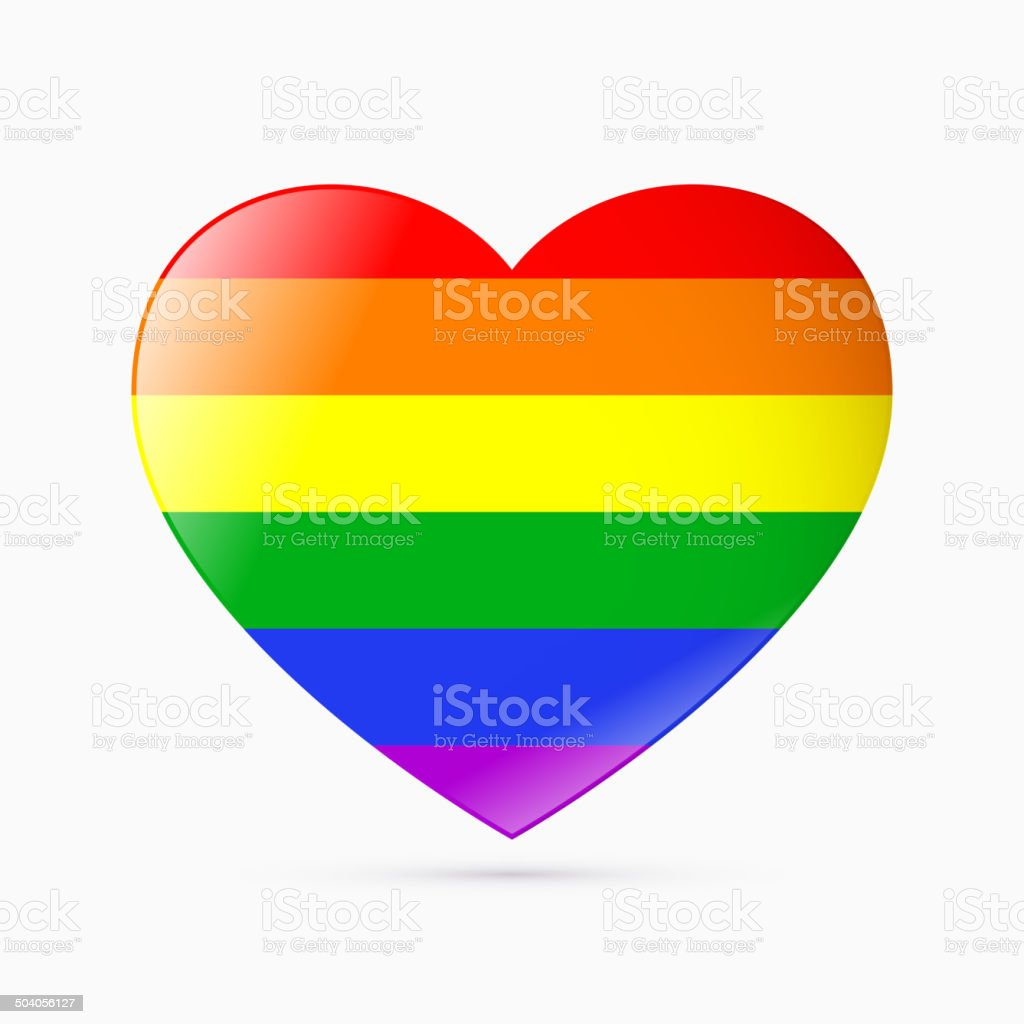 Rainbow flag vector art illustration