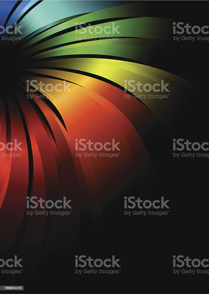 Rainbow Flowing Lines royalty-free stock vector art