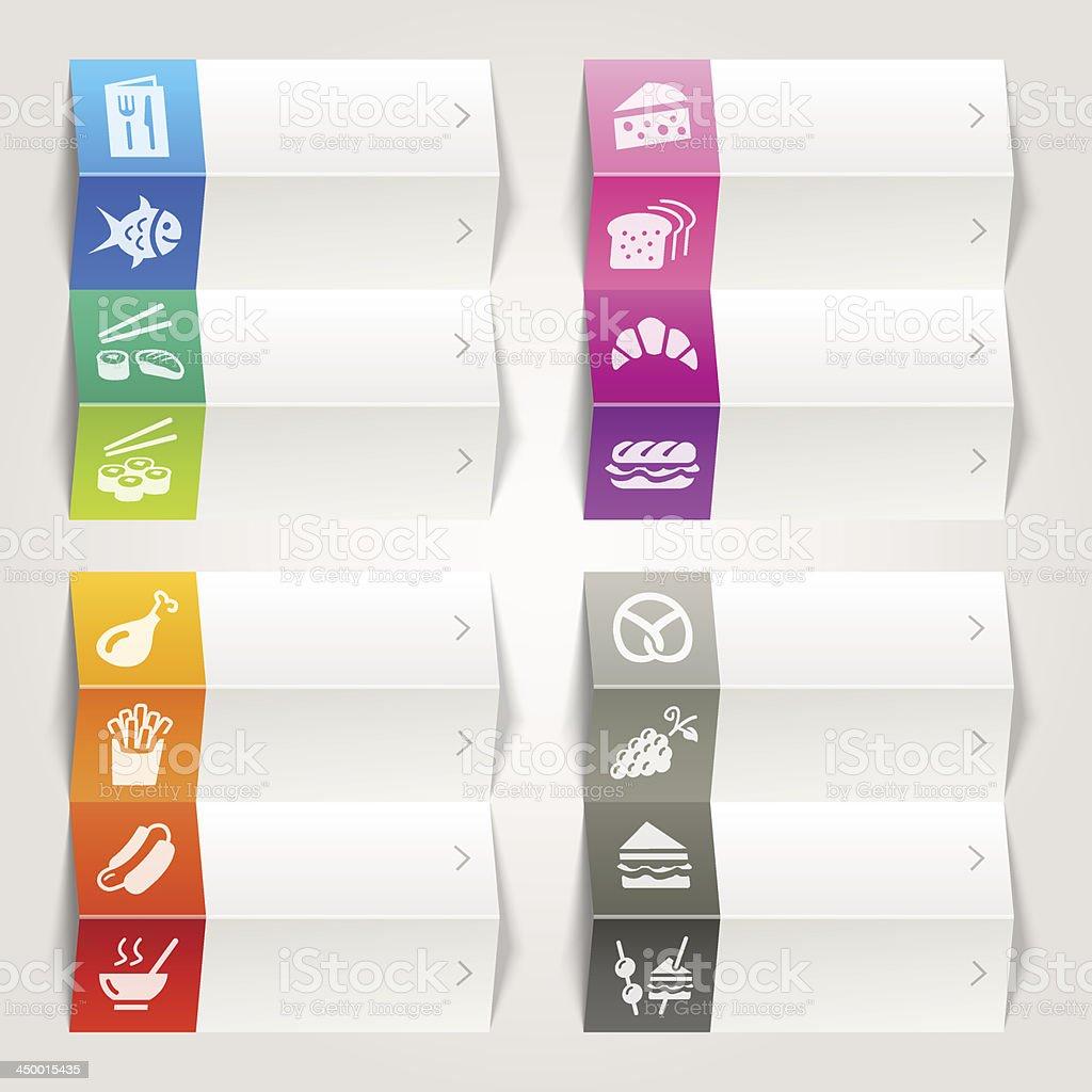 Rainbow - Food and restaurant icons / Navigation template vector art illustration