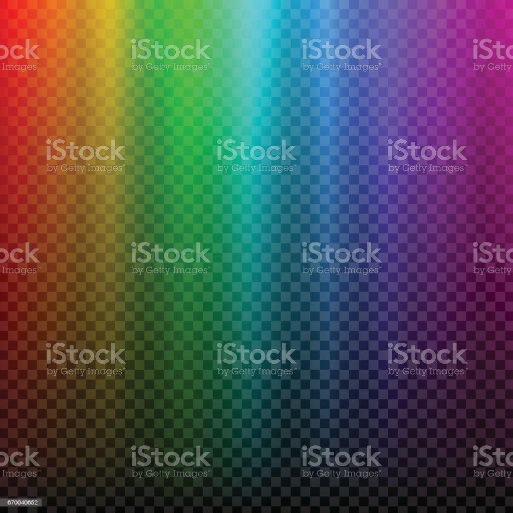 Rainbow glowing light. Northern light polar effect vector art illustration