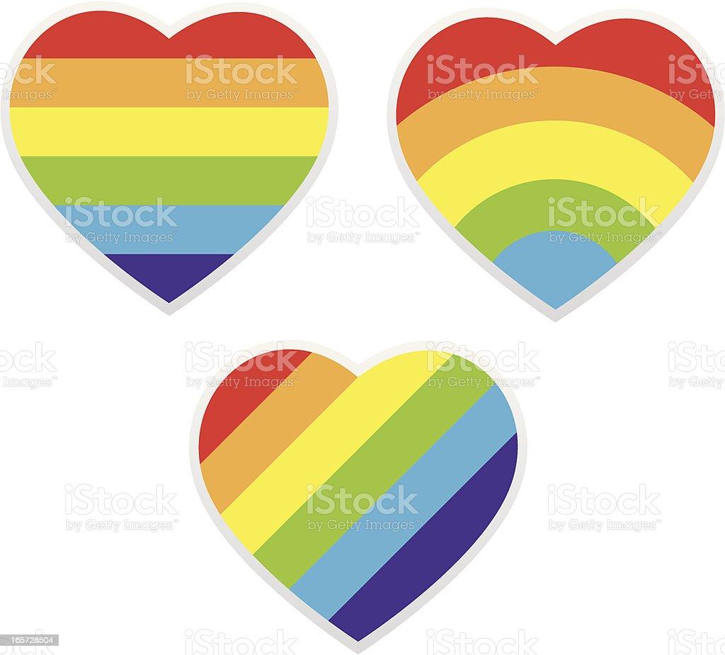 Rainbow Heart royalty-free stock vector art