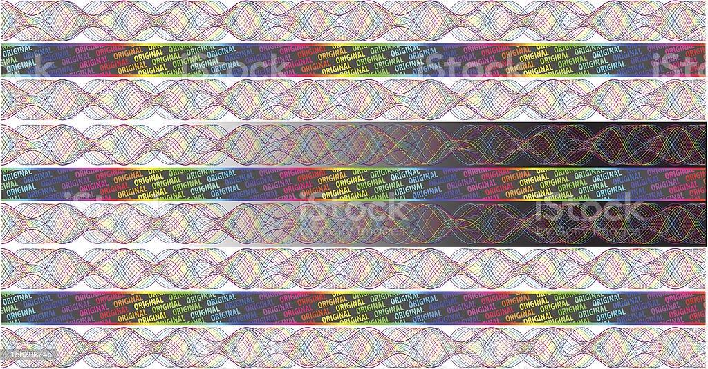 Rainbow Hologram royalty-free stock vector art