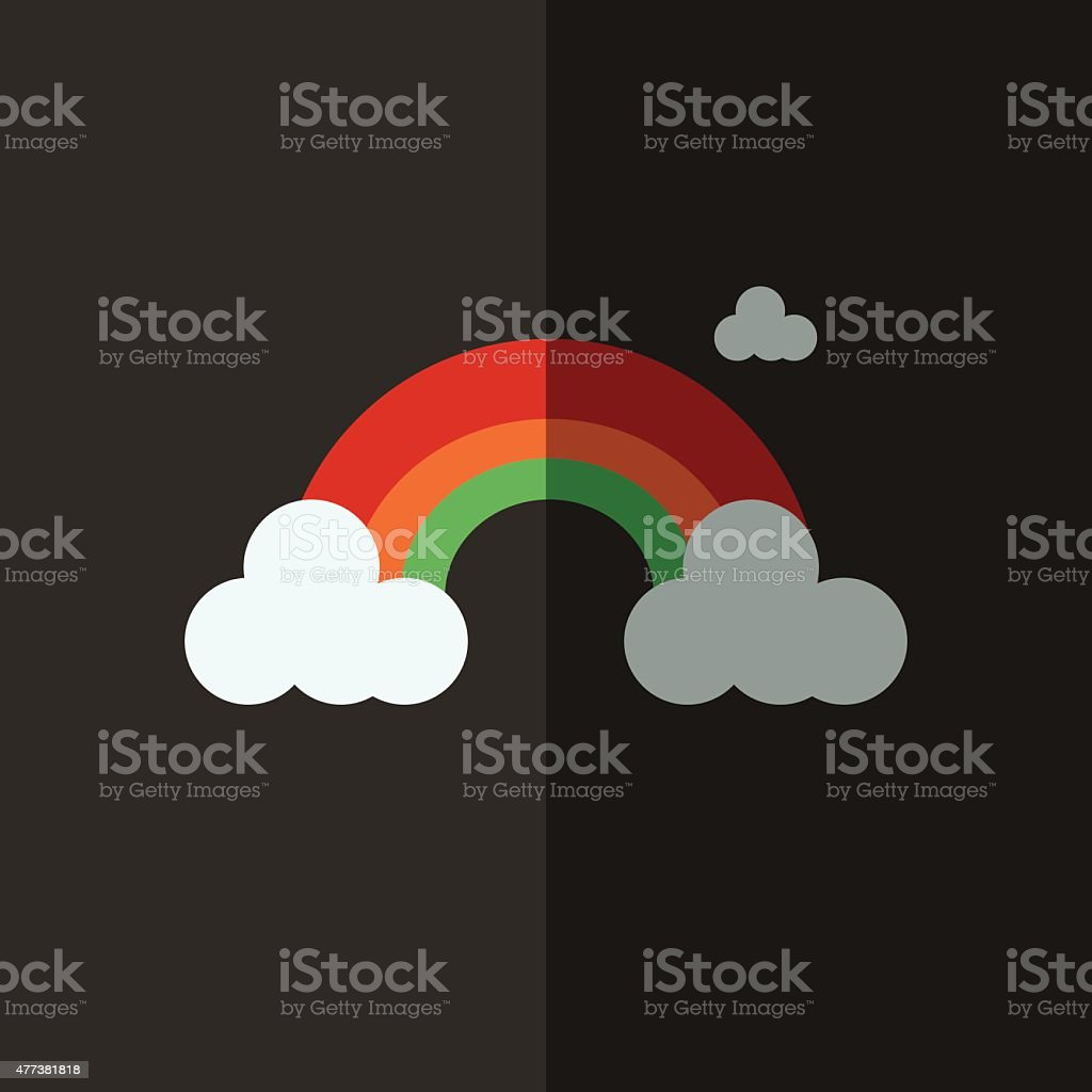 rainbow icon great for any use. Vector EPS10. vector art illustration