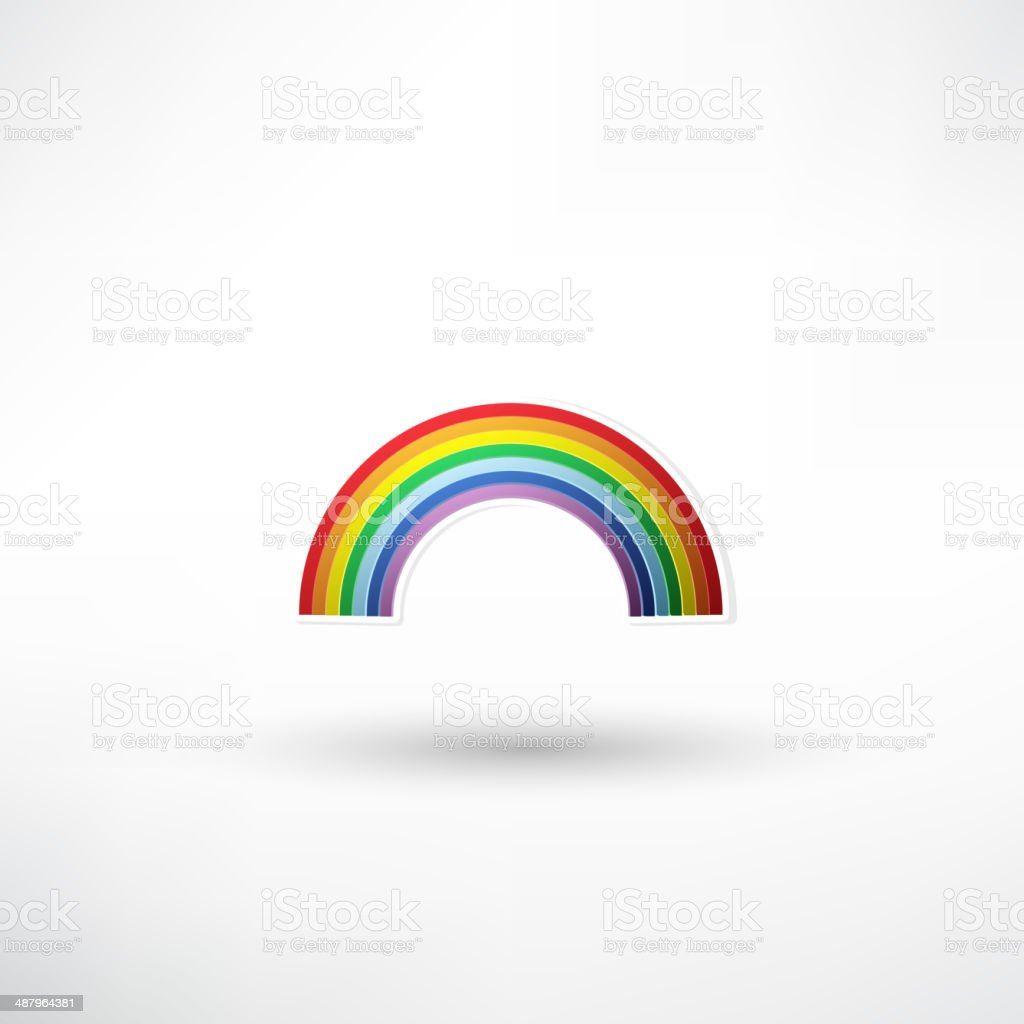 rainbow icon vector art illustration