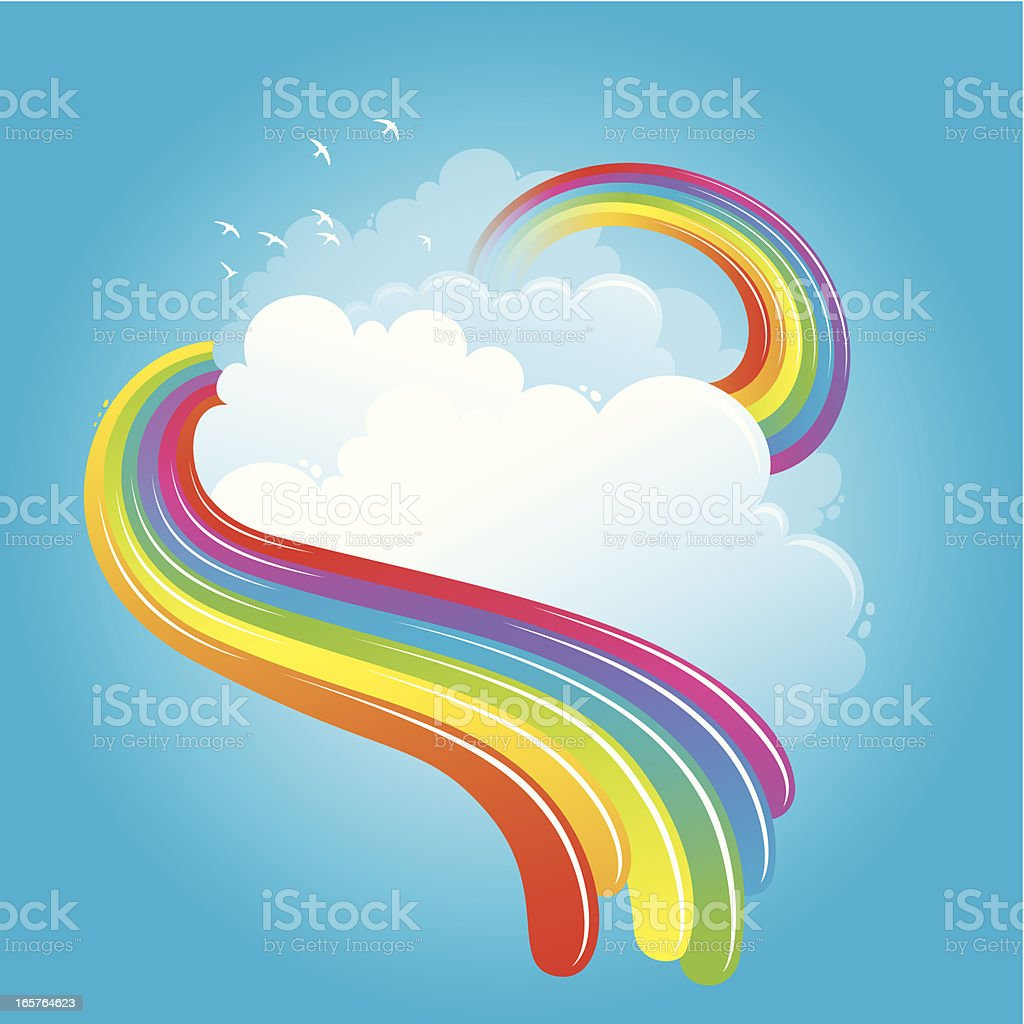 Rainbow in the clouds royalty-free stock vector art