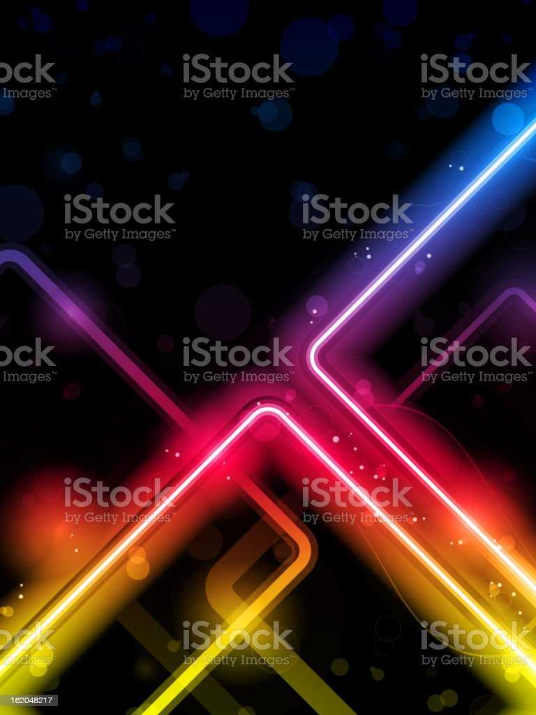 Rainbow  Lines Background Neon Laser royalty-free stock vector art