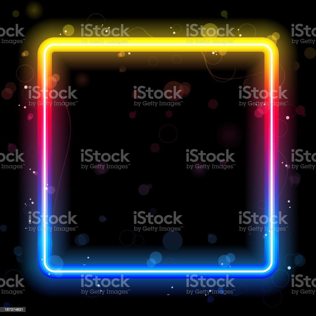 Rainbow  Lines Background Neon Laser royalty-free stock vector art