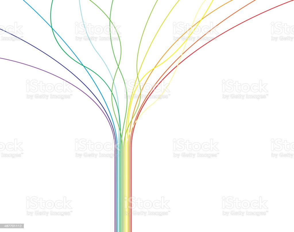 Rainbow lines vector art illustration